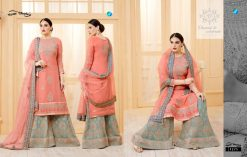 YC Sarara Vol 10 Georgette With Embroidery Sharara Suit wholesale rate 14