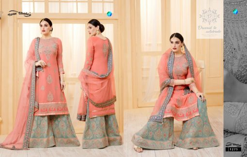 YC Sarara Vol 10 Georgette With Embroidery Sharara Suit wholesale rate 7