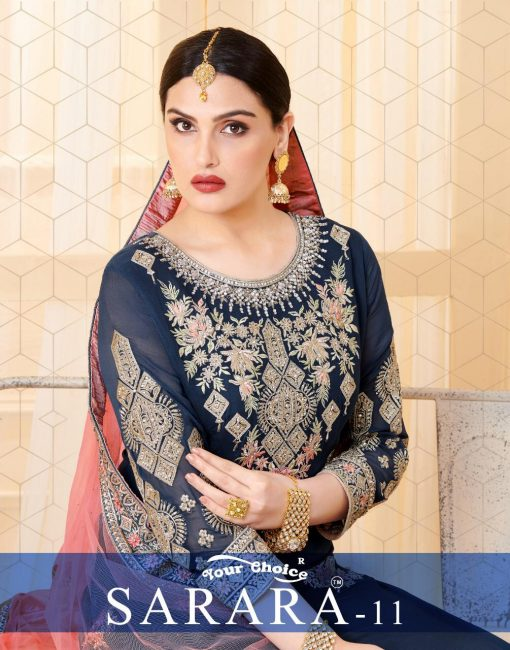 YC Sarara Vol 10 Georgette With Embroidery Sharara Suit wholesale rate 1
