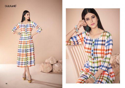 gulkand neerja heavy rayon casual wear kurti collection with hand work and print full catalog 4
