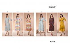 gulkand neerja heavy rayon casual wear kurti collection with hand work and print full catalog 15