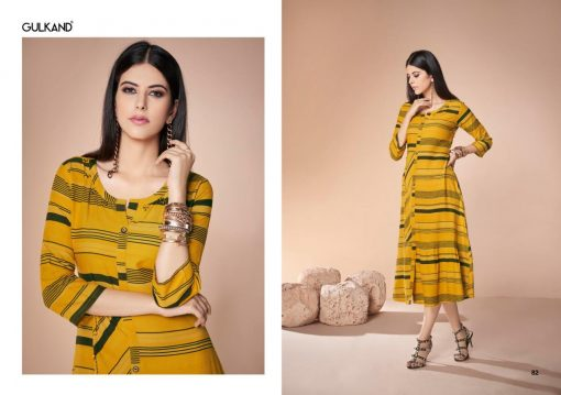 gulkand neerja heavy rayon casual wear kurti collection with hand work and print full catalog 7