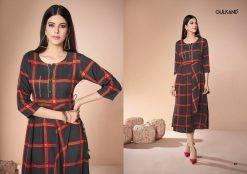 gulkand neerja heavy rayon casual wear kurti collection with hand work and print full catalog 17