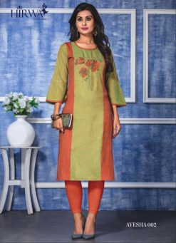hirwa present ayesha fancy rayon long kurti wholesale price 10
