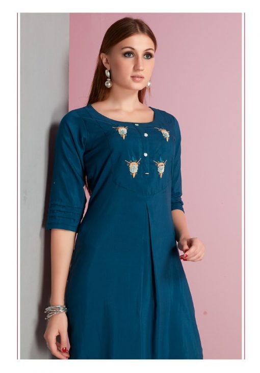 Gaurang Gee-Kajal Muslin Kurtis Collection Wholesale Rates 1