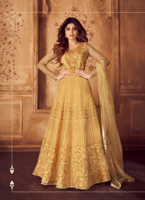 aashirwad karigari vol 2 long gown style party wear salwar suit online trader 1