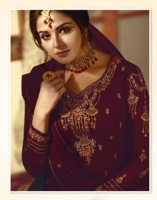 Zisa Vol 60 By Meera Trendz Embroidered Work Indian Dresses Catalog 1
