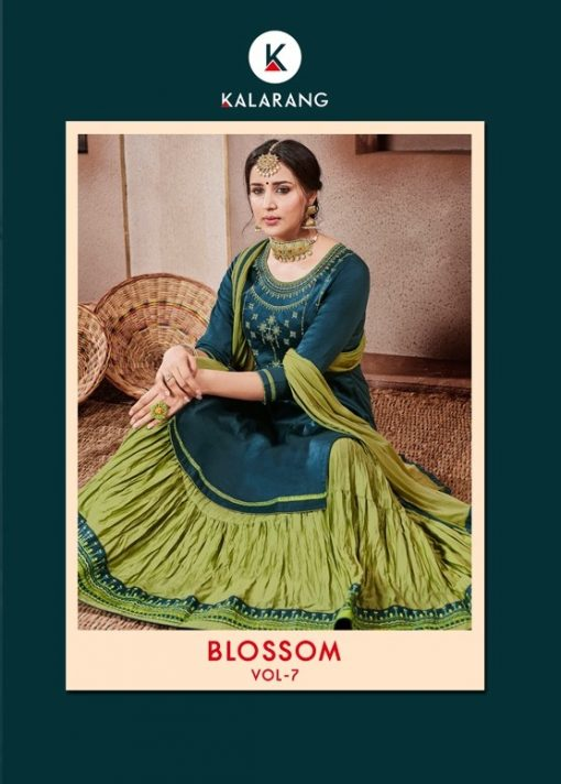 kalarang launching blossom vol 7 jam silk cotton lehanga style salwar kameez 1