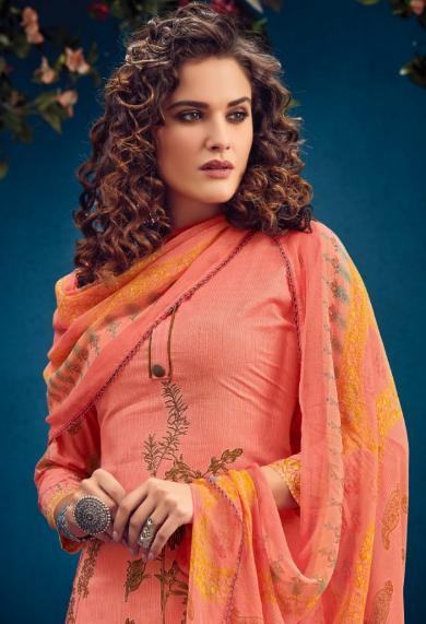 Radhika Azara vol -34 pure camric print dress material 1