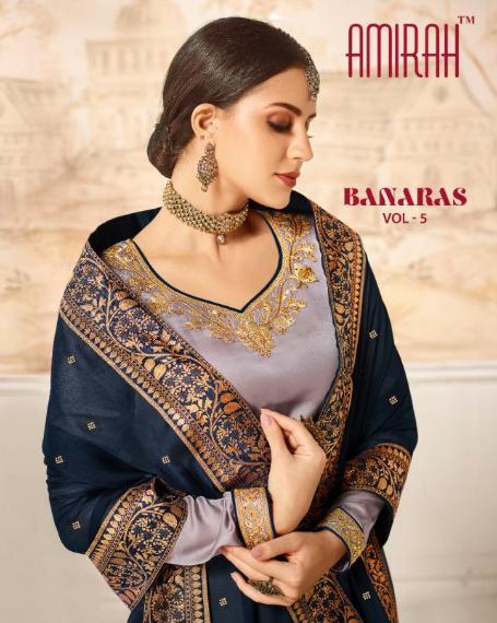 amirah banaras vol 5 indian designer latest salwar kameez catalog supplier 1