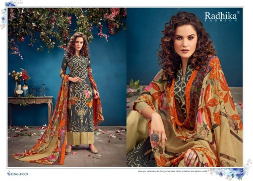 Radhika Azara vol -34 pure camric print dress material 3