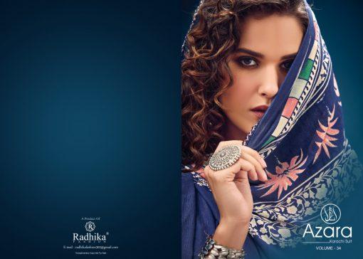 Radhika Azara vol -34 pure camric print dress material 4
