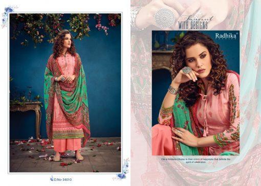 Radhika Azara vol -34 pure camric print dress material 7