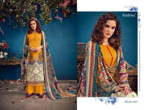Radhika Azara vol -34 pure camric print dress material 13
