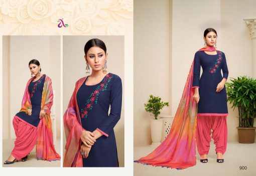 angroop heeriye catalogue soft cotton with embroidery work dress material collection wholesale rates from surat 4