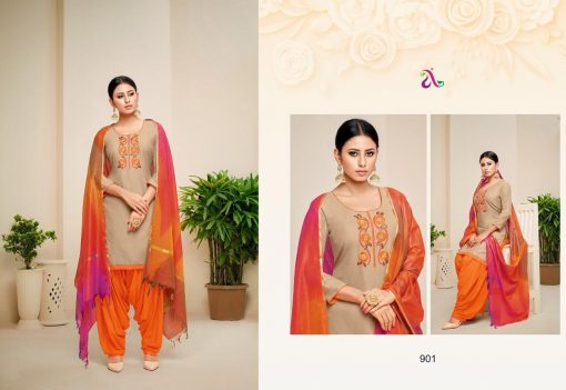 angroop heeriye catalogue soft cotton with embroidery work dress material collection wholesale rates from surat 2