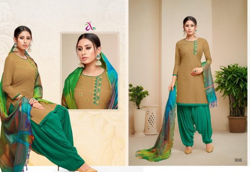angroop heeriye catalogue soft cotton with embroidery work dress material collection wholesale rates from surat 6