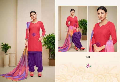 angroop heeriye catalogue soft cotton with embroidery work dress material collection wholesale rates from surat 5