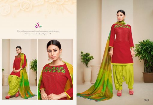 angroop heeriye catalogue soft cotton with embroidery work dress material collection wholesale rates from surat 7
