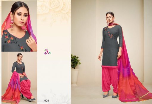 angroop heeriye catalogue soft cotton with embroidery work dress material collection wholesale rates from surat 12
