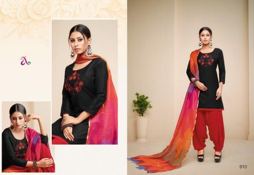 angroop heeriye catalogue soft cotton with embroidery work dress material collection wholesale rates from surat 13