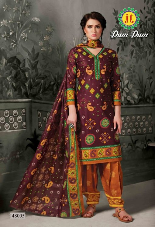 JT fashion present of printed dumdum vol 48 dress materials 8