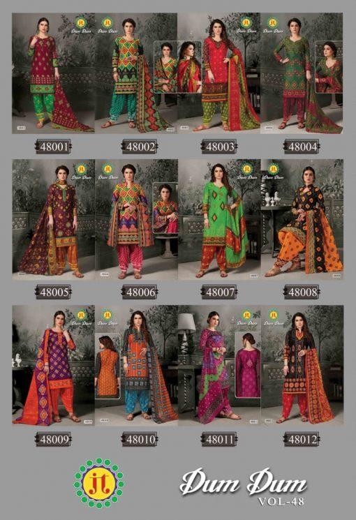 JT fashion present of printed dumdum vol 48 dress materials 13