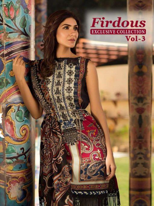 shree fab firdous exclusive collection vol 3 cotton print suit wholesaler 3