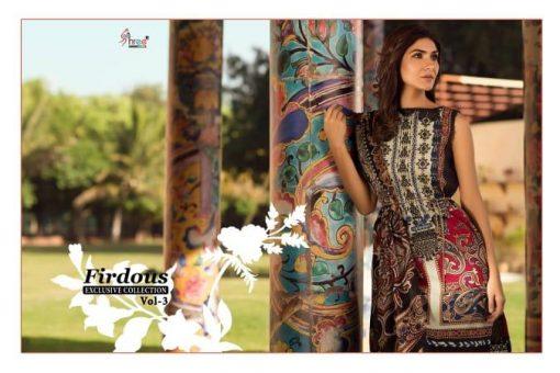 shree fab firdous exclusive collection vol 3 cotton print suit wholesaler 5