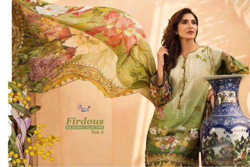 shree fab firdous exclusive collection vol 3 cotton print suit wholesaler 1