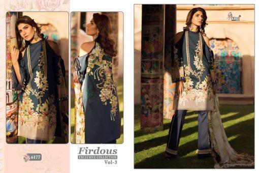 shree fab firdous exclusive collection vol 3 cotton print suit wholesaler 9