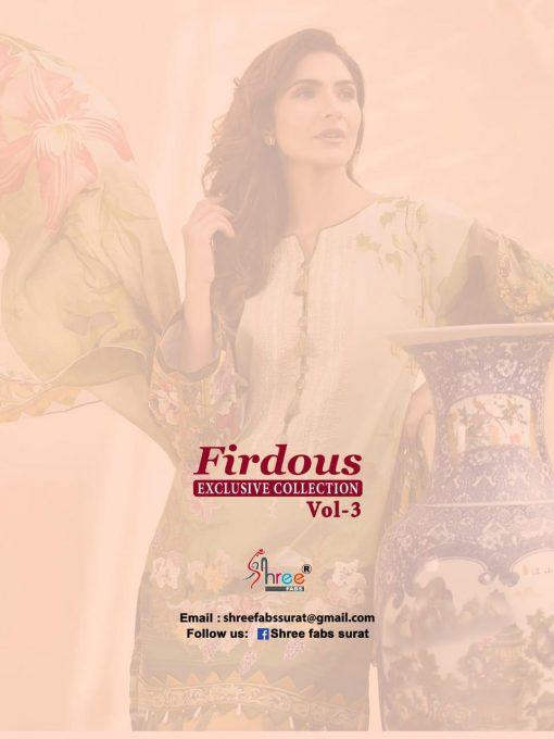 shree fab firdous exclusive collection vol 3 cotton print suit wholesaler 15