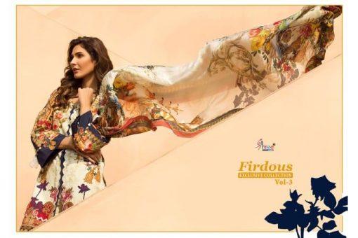 shree fab firdous exclusive collection vol 3 cotton print suit wholesaler 14