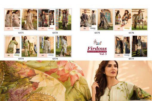 shree fab firdous exclusive collection vol 3 cotton print suit wholesaler 16