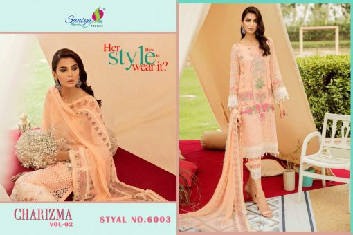 SANIYA TRENDS CHARIZMA Vol-2 Pure Cottan With Embroidery 5