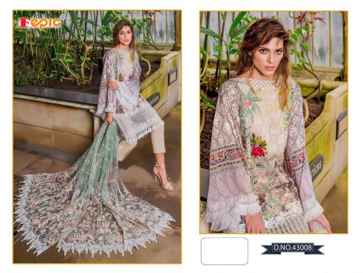 Rosemeen Cross Lawn Cambric Cotton Pakistani Collection 3