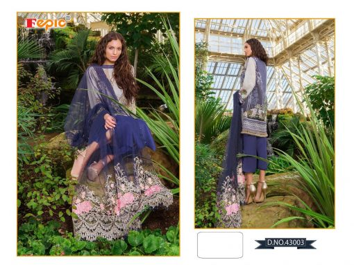 Rosemeen Cross Lawn Cambric Cotton Pakistani Collection 8