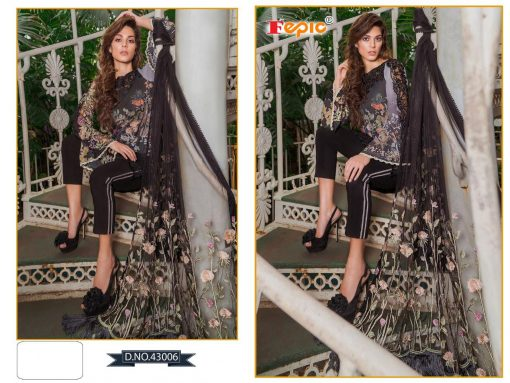 Rosemeen Cross Lawn Cambric Cotton Pakistani Collection 11