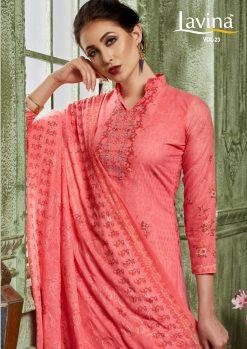 lavina launch lavina vol 23 pure cotton printed traditional wear suit 15