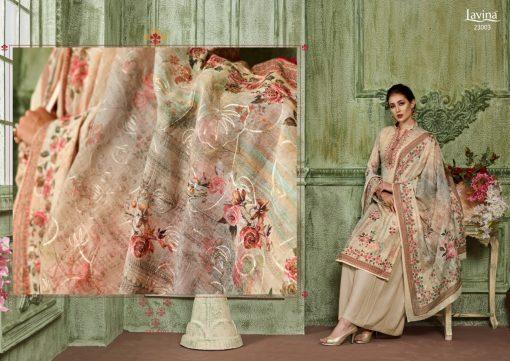 lavina launch lavina vol 23 pure cotton printed traditional wear suit 10