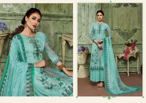 lavina launch lavina vol 23 pure cotton printed traditional wear suit 12