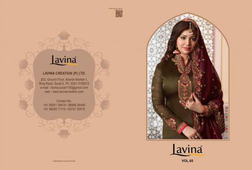 lavina launch lavina vol 65 satin georgette party wear salwar suit 7