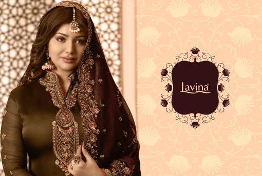 lavina launch lavina vol 65 satin georgette party wear salwar suit 1