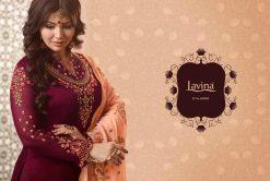 lavina launch lavina vol 65 satin georgette party wear salwar suit 26