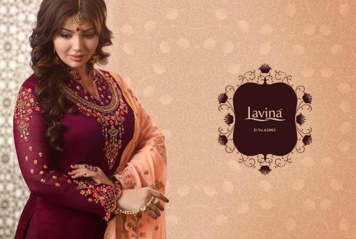 lavina launch lavina vol 65 satin georgette party wear salwar suit 10