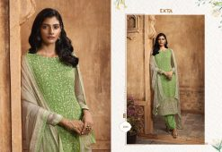 KHWAISH VOL-28 BY EKTA FASHION 2801 TO 2808 SERIES BEAUTIFUL WINTER COLLECTION SUITS STYLISH FANCY COLORFUL CASUAL WEAR & ETHNIC WEAR CHIFFON EMBROIDERED DRESSES AT WHOLESALE PRICE. 19