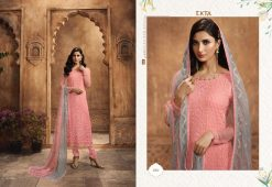 KHWAISH VOL-28 BY EKTA FASHION 2801 TO 2808 SERIES BEAUTIFUL WINTER COLLECTION SUITS STYLISH FANCY COLORFUL CASUAL WEAR & ETHNIC WEAR CHIFFON EMBROIDERED DRESSES AT WHOLESALE PRICE. 20
