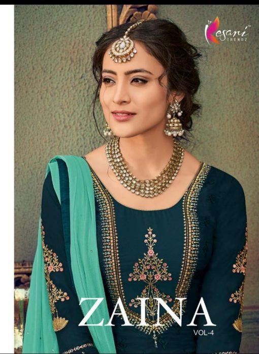 kesari trendz zaina vol 4 brasso exclusive salwar kameez in surat dealer 12