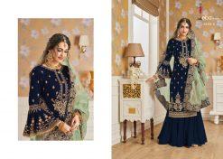 Hurma Vol 10 Gold Designer Faux Georgette Embroidered Salwar Kameez 12