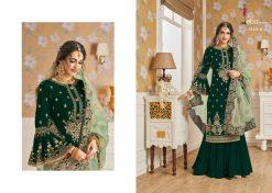 Hurma Vol 10 Gold Designer Faux Georgette Embroidered Salwar Kameez 10